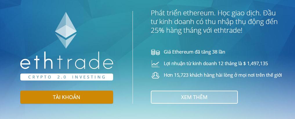 EthTrade lợi nhuận >22% tháng