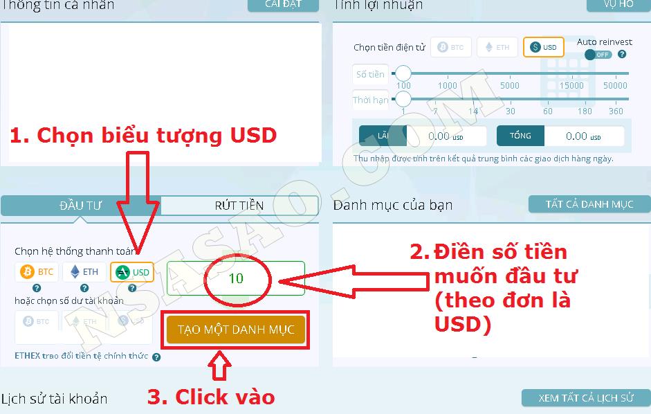 Hướng dẫn Đầu tư EthTrade bằng cổng ADVcash tại Việt Nam (1)