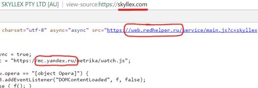 Trang web của Skyllex được một nhà phát triển người Nga thiết kế