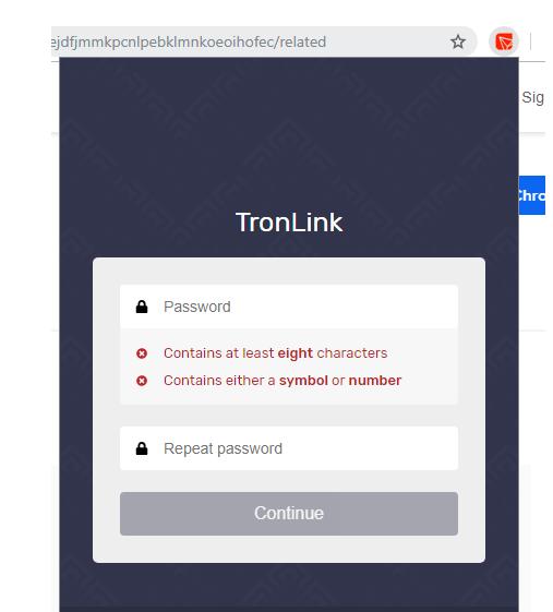 password tronlink